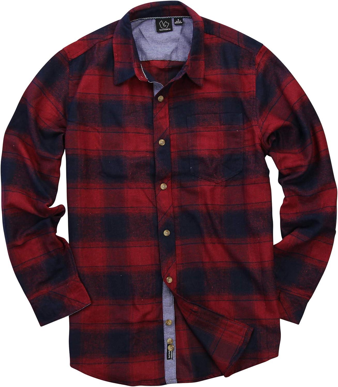 Men's Button Down Long Sleeve Flannel Shirt