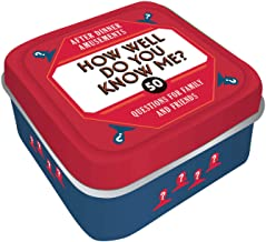 Chronicle Books After Dinner Amusements: How Well Do You Know Me?: 50 Questions for Family & Friends (Family Friendly Conversation Starter Card Game, Portable Camping & Holiday Games)