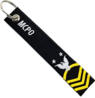 U.S. Navy Master Chief Petty Officer Black Embroidered Key Chain