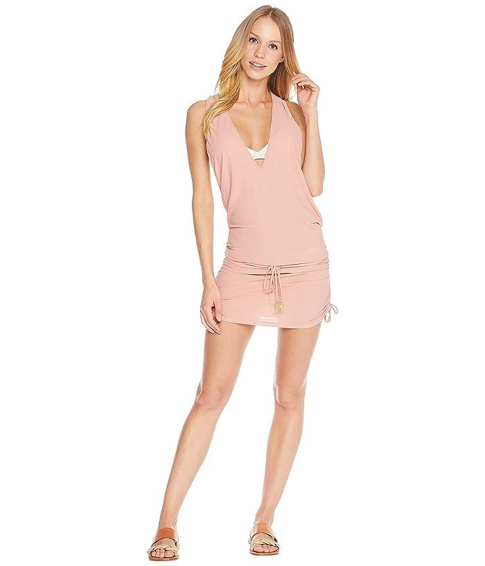 Luli Fama Cosita Buena T-Back Mini Dress Cover-Up (Rosa) Women