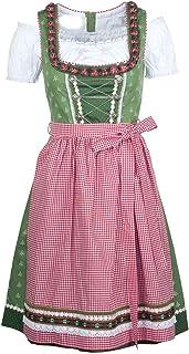Ramona Lippert Damen-Dirndl, Claudia grün - 3-teiliges Dirndlkleid für Frauen, hochwertige Trachtenmode