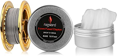 Fused Prebuilt Resistance Wire with Cotton 10 ft - 28GAx3+38GA, Nichrome 80 for Household Wiring Use