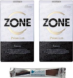 コンドーム ZONE(ゾーン)Premium (5個入)2箱セット ラテックス製 ナマ感覚ゼリー ジェクス スキン ゴム コンドーム スティックローション セット こんどーむ 避妊具 スキン アダルトサック condom