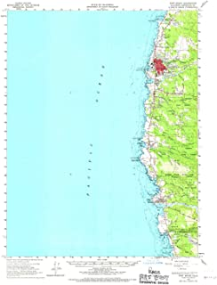 YellowMaps Fort Bragg CA topo map, 1:62500 Scale, 15 X 15 Minute, Historical, 1960, Updated 1967, 20.9 x 16.7 in