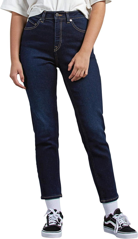 Volcom Women's Max 60% OFF Vol Stone gift High Jean Girlfriend Rise