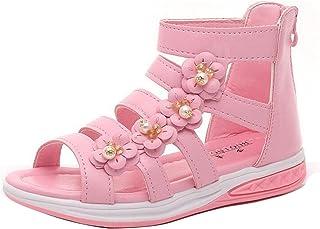48ed89edddc7 Gaorui Kids Girls Summer Princess Flower Dress Sandals Gladiator Ankle Boot  Party Shoes
