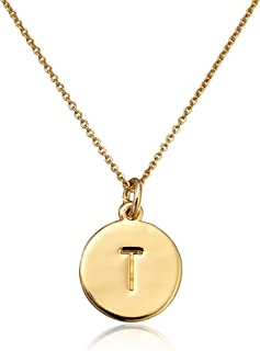 small monogram necklace gold