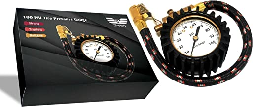 Zmotors' Tire Pressure Gauge High Air Pressure Guage for All Vehicles,Heavy Duty Best for Car & Motorcycle