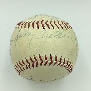 1982 Detroit Tigers Team Signed Baseball Sparky Anderson Alan Trammell COA - JSA Certified - Autographed Baseballs