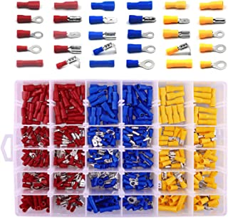 480pcs Insulated Crimp Terminal Set, Cold Crimp Terminal, Wire Connector Tool Combination,Solderless Crimp Terminals Conne...