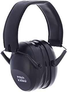 Pro Ears Ultra Gel 25 | Aviator Gel Ear Seals | Comfortable Hearing Protection for Shooting and for Loud Environments- NRR 25 - Safety Ear Muffs - Black - PEUG26BBX