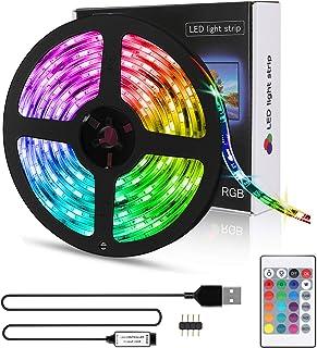 comprar comparacion Tira LED 5M USB, Zorara Tiras Led Iluminación RGB con Chip SMD 5050 Tira de LED Retroiluminación de TV IP65 150 LED Multic...