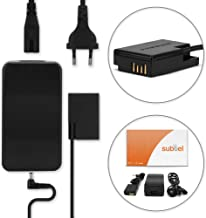 subtel® Fuente alimentación Compatible con Canon EOS 200D EOS 250D EOS 750D EOS 760D EOS 77D EOS 800D EOS Rebel SL2 (AC-E6 AC-E6N + DR-E18) - ca. 3m, ACK-E18, 8V Cable de Corriente