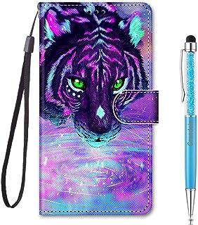 Grandoin Funda para Samsung Galaxy A01, Superficie Colorida Creativo PU Cuero Case Cuerpo Completo Carcasa Protectora Cart...