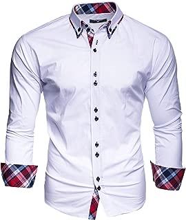 Hombre Camisa Manga Larga Slim Fit S M L XL 2XL