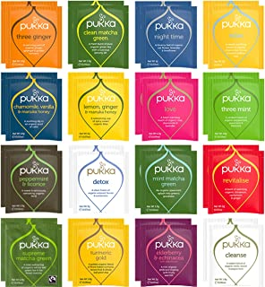 Blue Ribbon Pukka Tea Bags Sampler Assortment Variety Pack Gift Box - 48 Count - Perfect Variety – Pukka Detox Tea, Pukka ...