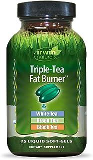 Irwin Naturals Triple-Tea Fat Burner - White, Green & Black Tea - Antioxidant Rich Metabolism Booster - 75 Liquid Softgels
