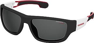 Carrera 4008/s Polarized Rectangular Sunglasses, MTBLK WHT, 60 mm