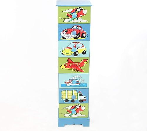 antyki24 Kinderkommode 7 Schubladen Jungen W hekommode Flugzeuge fürzeuge Aufbewahrung