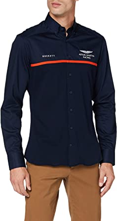 Hackett London Amr Tonal Twill & JSY Camiseta Deporte para Hombre