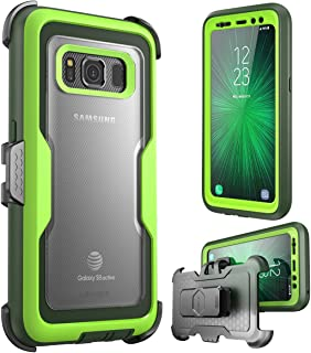i-Blason Case for Galaxy S8 Active , [Magma] [Full body] [Heavy Duty Protection] Shock Reduction / Bumper Case with Built-in Screen Protector (Not Fit Galaxy S8/S8 Plus)(Green)