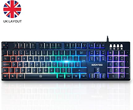 Teclado Mecánico RGB 104 Teclas US-Layout Keyboard USB con ...