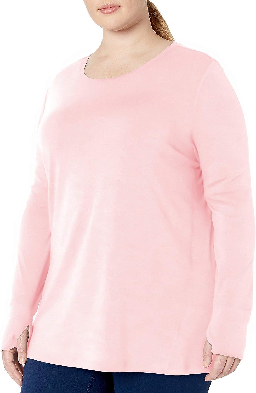 Amazon Essentials Women's Plus Size Studio Long-Sleeve Lightweight T-Shirt