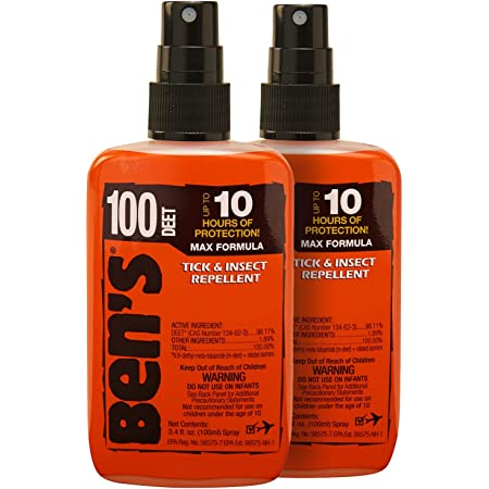 Ben's 100 Insect Repellent Pack 3.4 oz (Pack of 2)