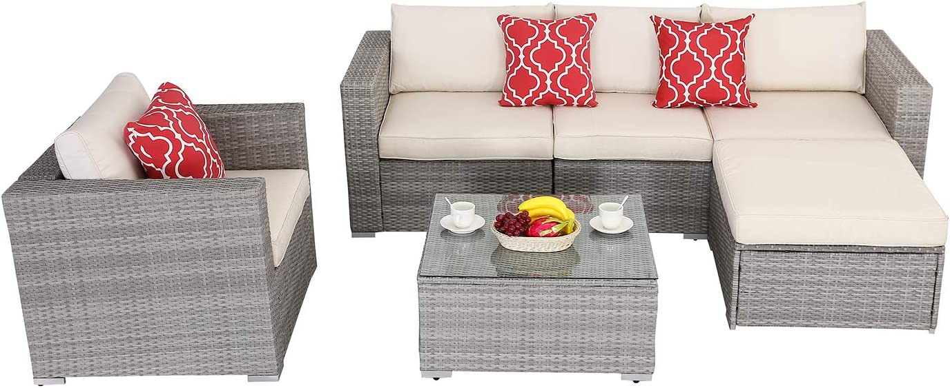 Do4U Patio Furniture Set 6-Piece Poolside Lawn ! Super beauty product restock quality top! Outdoor Indefinitely Backyard