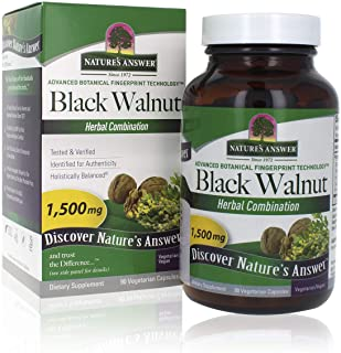 Nature's Answer Black Walnut and Wormwood| Promotes Overall Health and Wellbeing | Vegan, Gluten-Free, Non-GMO & Kosher Ce...