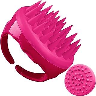 Soaab Shampoo Brush Scalp Massager Exfoliating Brush , Soft Silicone Brush For Hair Stimulation with Body Brush Massage Br...