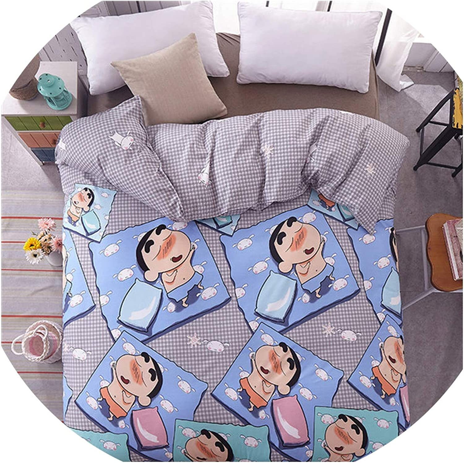 HANBINGPO Rainbow Cartoon Duvet Cover Twin Full Queen King Single Quilt Cover Printing Home Bedding Home Textiles for Kids boy Girl,style19,150x200cm