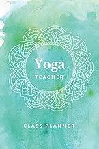 Yoga Teacher Journal Class Planner Lesson Sequence Notebook