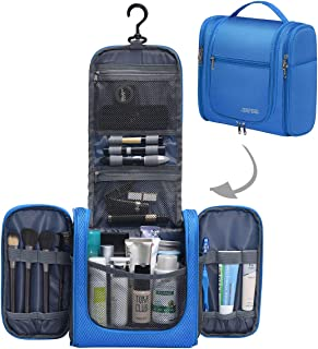 JINFIRE Hanging Toiletry Bag Large Travel Toiletry Organizer Bag for Men and Women, Blue