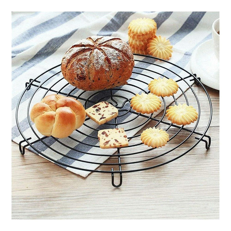 レースギャンブルソーセージ女性のために、ラウンド冷却ラックのパン乾燥オーブンパンクーラーホルダーベーキングギフトを調理用ステンレス鋼線ラックグリッド 0526lll