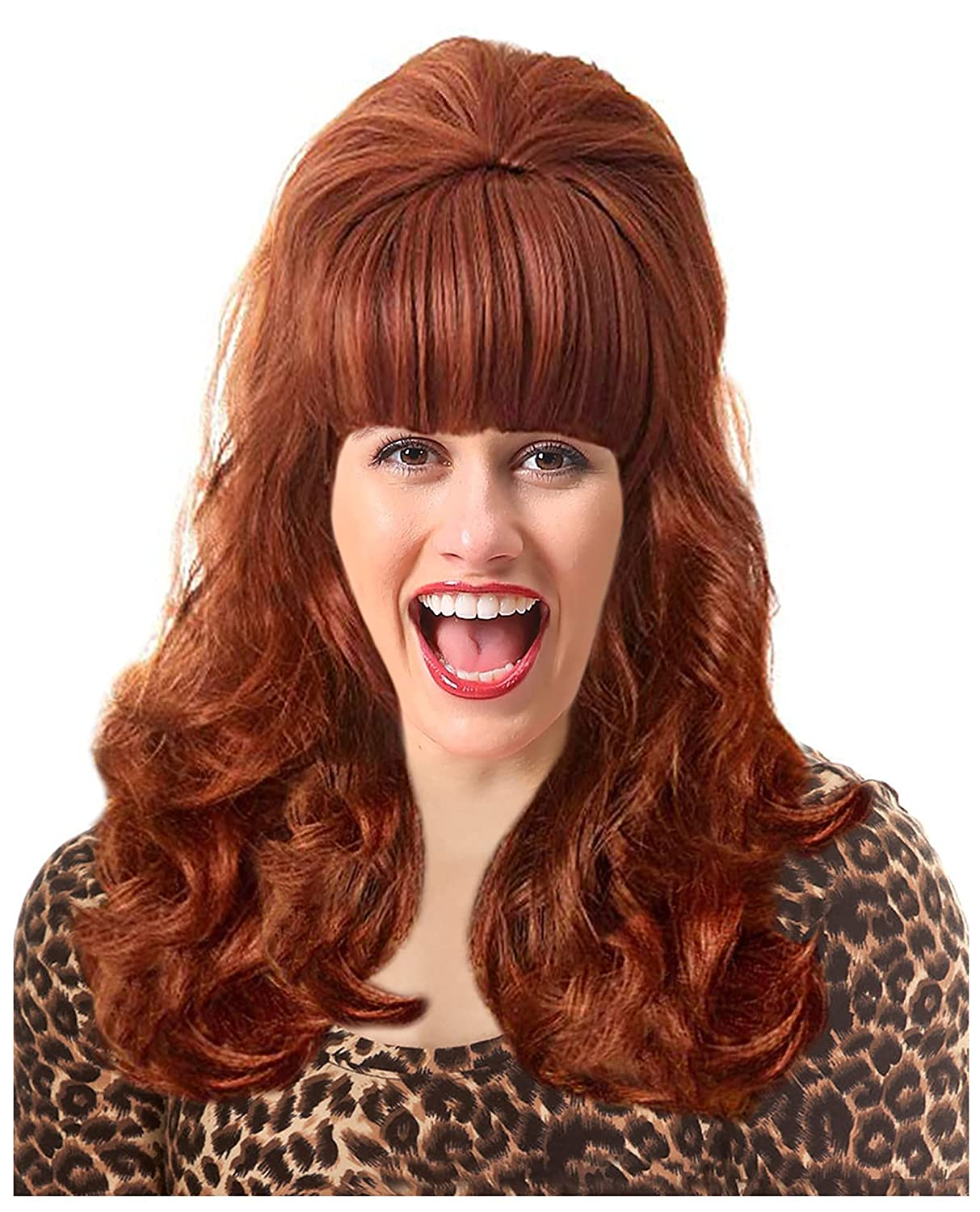 60s Max 45% OFF Peg New arrival Costume Wig Peggy White Red Trash C Bouffant