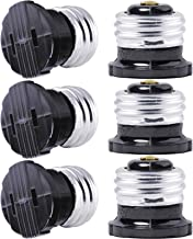 SerBion 6 pack E26 the US Standard Screw Light Holder, Plug Adapter, Polarized Handy Outlet (Light Bulb Socket) , Light Socket Adapter ,Two Holes,Convenient and Practical project, Black