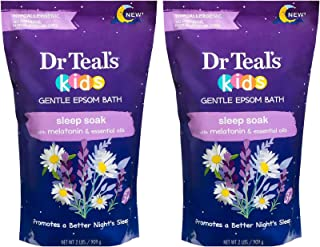 Dr Teal's Kids Epsom Salt Sleep Soak 2-Pack (4lbs Total) with Melatonin
