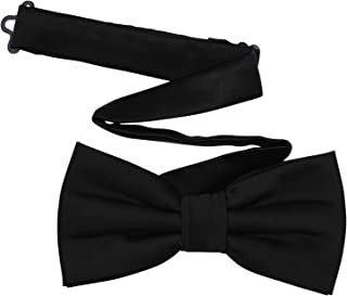 TINYHI Men's Pre-Tied Satin Formal Tuxedo Bowtie Adjustable Length Satin Bow Tie