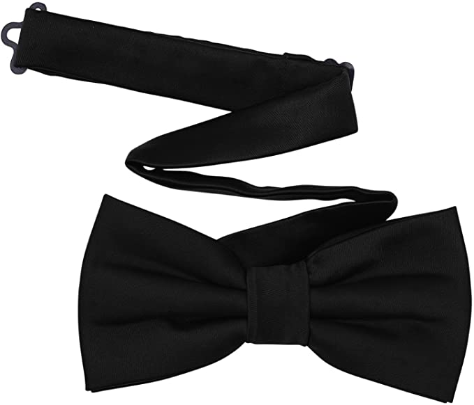 History of 1920s Men's Ties, Neckties, Bowties TINYHI Mens Pre-Tied Satin Formal Tuxedo Bowtie Adjustable Length Satin Bow Tie  AT vintagedancer.com