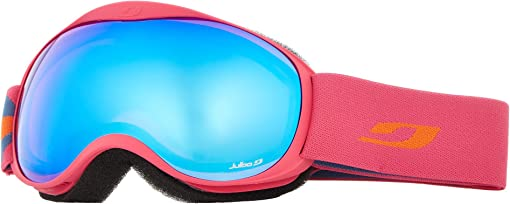 Fuchsia with Orange Flash Blue Lenses