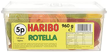 Haribo Rotella tina