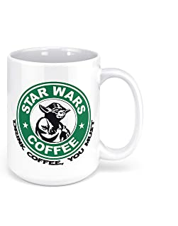 "1 Mug -""Star Wars Yoda"" Funny Quote - Perfect for your cuppa Coffee, Tea, Karak, Milk, Cocoa or whatever Hot or Cold Bever..."
