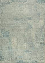 Jaipur Rugs Modern Ivory 4X6 Feet Wool and Bamboo Silk Abstract Rug and Carpet