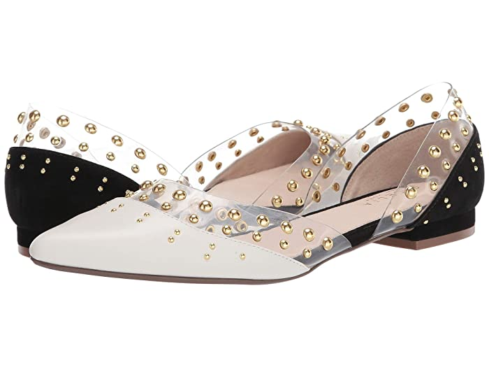 Cecelia New York  Min (Black/Alabster Clear) Womens Flat Shoes
