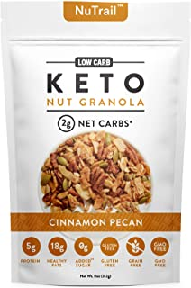 NuTrail™ - Keto Nut Granola Healthy Breakfast Cereal - Low Carb Snacks & Food - 2g Net Carbs - Almonds, Pecans, Coconut an...