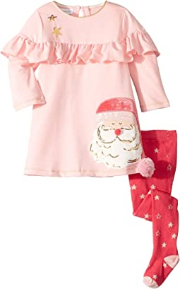 Santa's Christmas Dress and Tights Two-Piece Set (Infant)