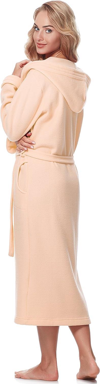 Merry Style Damen Bademantel mit Kapuze 3S4R3N4 Aprikose