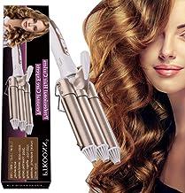 Rizador de pelo, Tenacillas de Pelo, Pinzas Rizadoras, Rizador de Pelo de Cerámica de la Turmalina de 3 Barriles Rizador de la Onda Grande de la Ondulación Permanente de la Ondulación