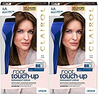 Clairol Nice N' Easy Root Touch Up, 004a, Dark Ash Brown, 2 Count